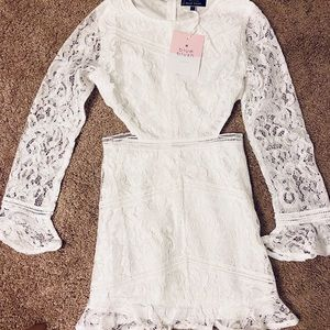Brand new white VICI lace cut out dress!